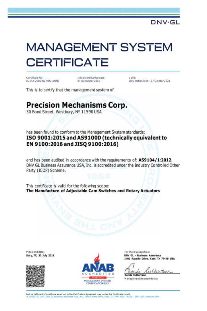 ISO 9001 and ASD9100D